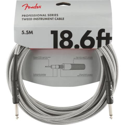 Professional Series Instrument Cable, 18.6', White Tweedサムネイル