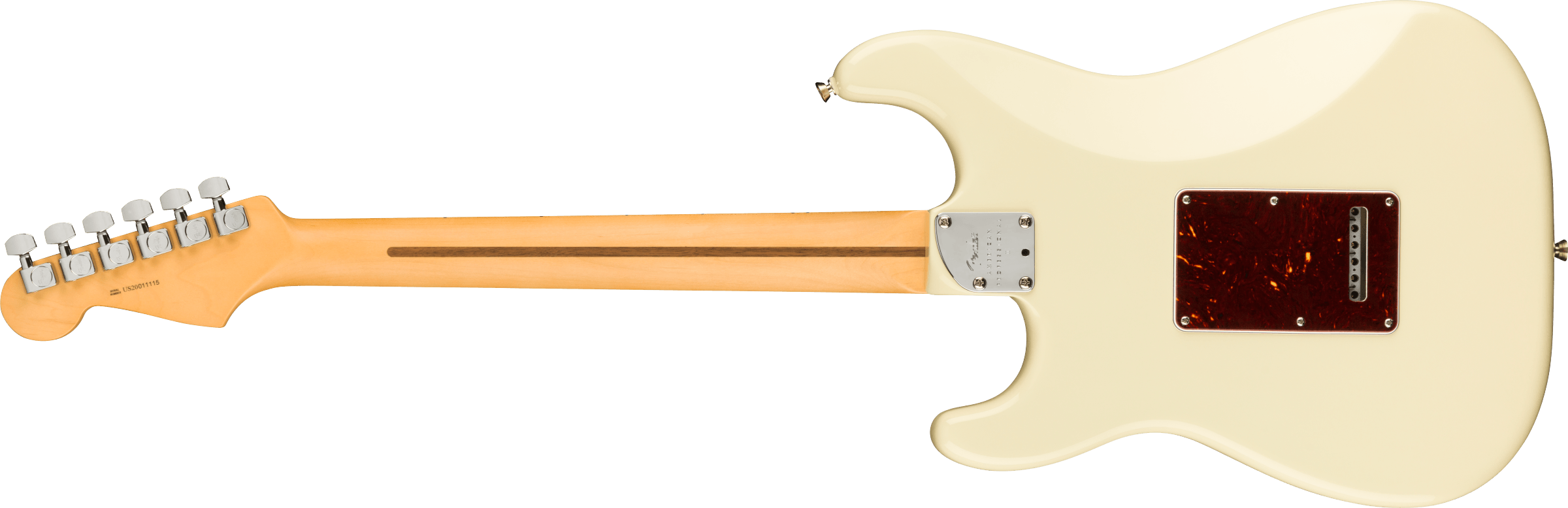 American Professional II Stratocaster Maple Fingerboard, Olympic White追加画像